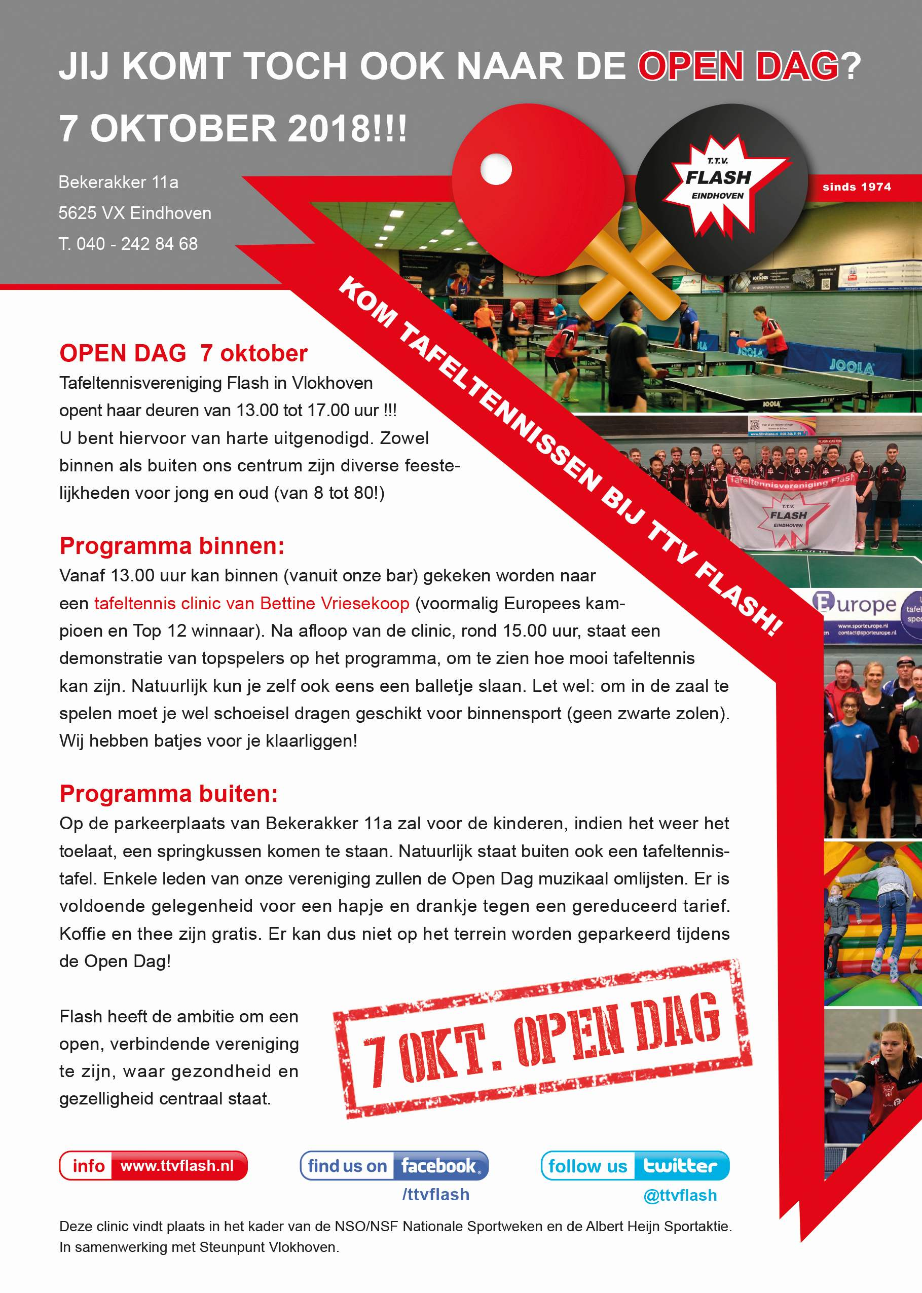 Flyer OPEN DAG Flash-klein